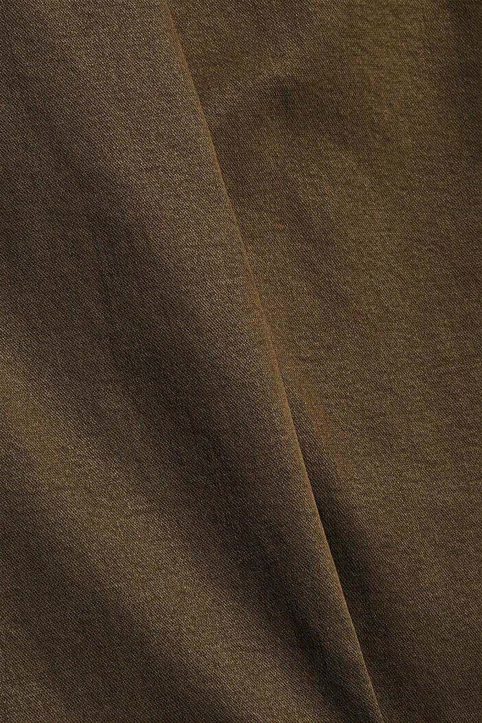 Knöchellange Hose mit Saum-Zippern, DARK KHAKI, detail image number 4
