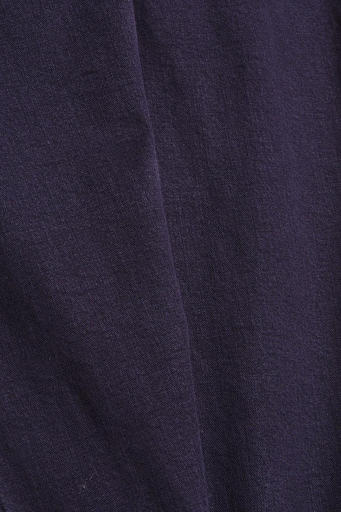 Knöchellange Hose mit Saum-Zippern, NAVY, detail image number 4