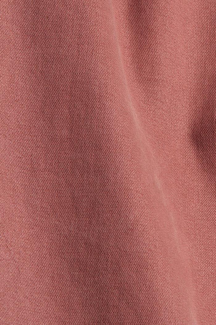 Knöchellange Hose mit Saum-Zippern, DARK OLD PINK, detail image number 4