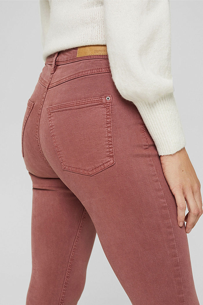 Knöchellange Hose mit Saum-Zippern, DARK OLD PINK, detail image number 5