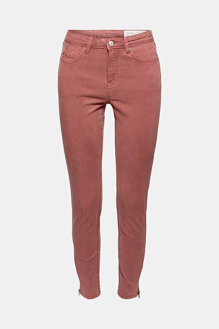 Knöchellange Hose mit Saum-Zippern