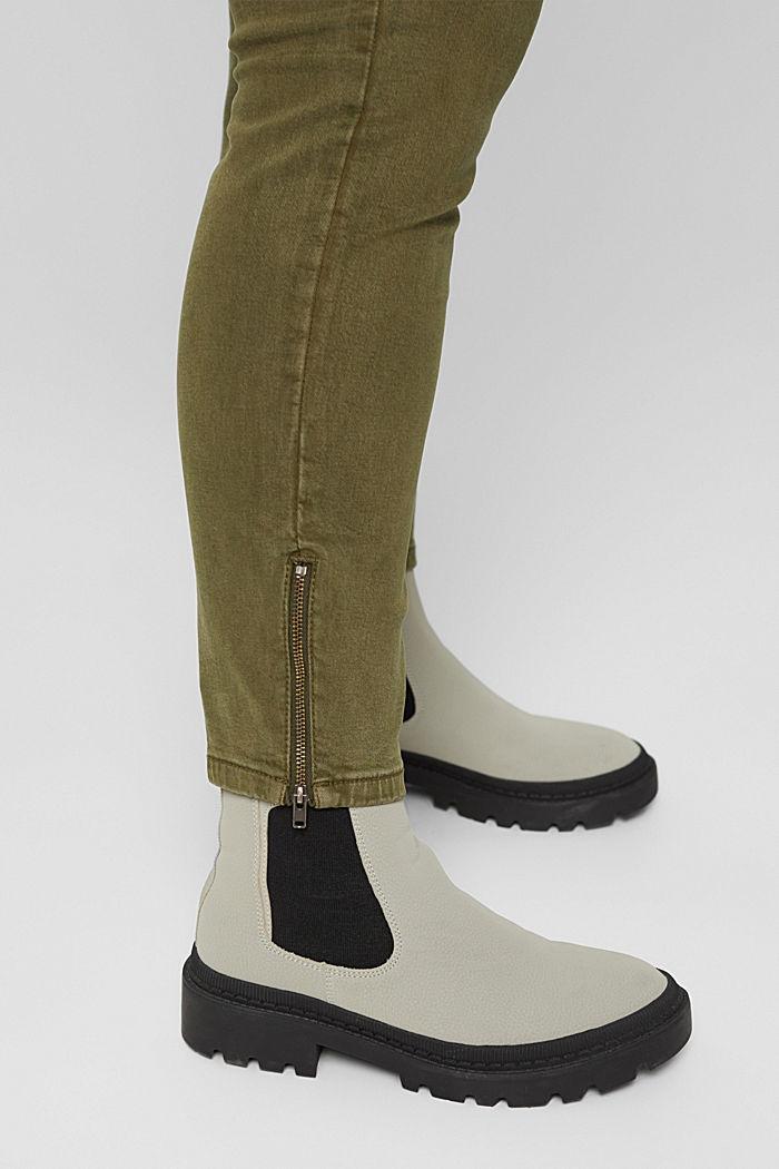 CURVY Stretch-Jeans mit Zipper-Detail, DARK KHAKI, detail image number 2