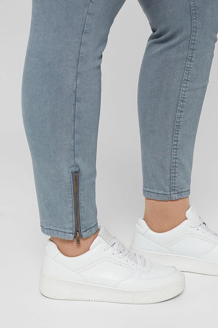 Jean stretch CURVY à détails zippés, GREY BLUE, detail image number 2