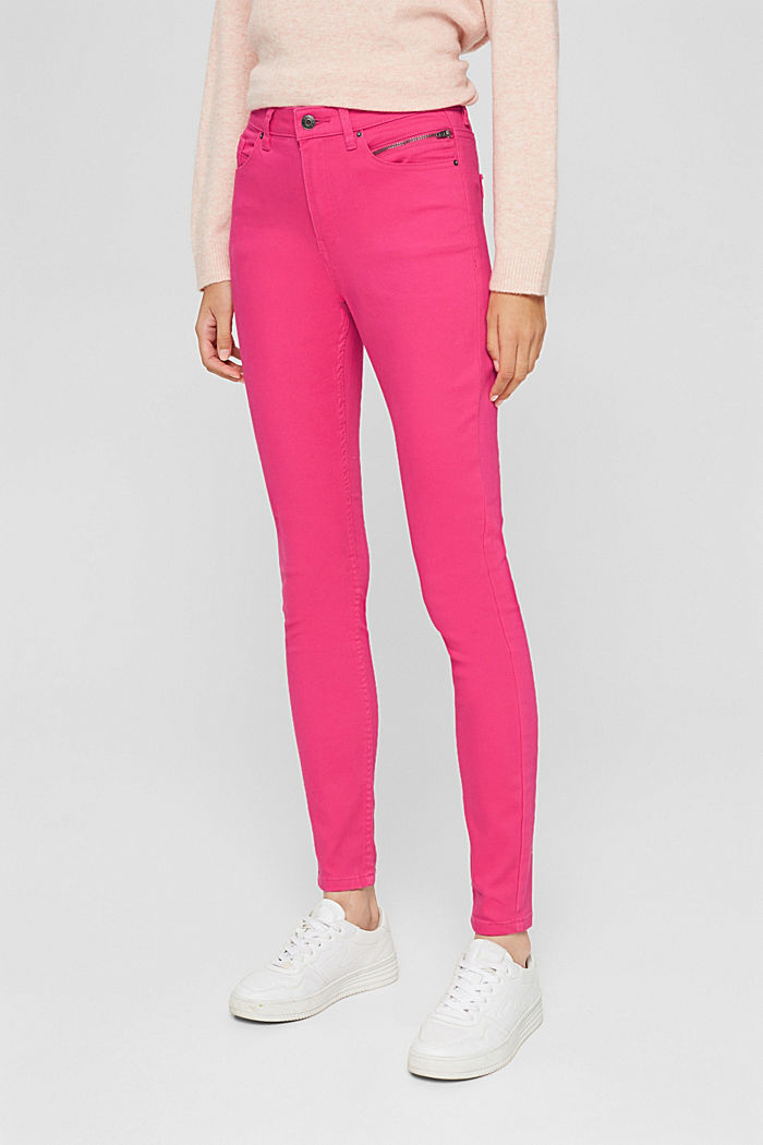 Pants woven, PINK FUCHSIA, detail image number 0