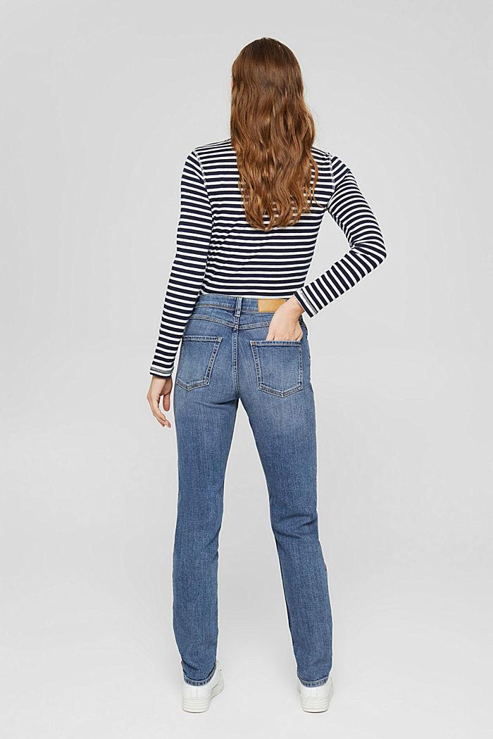 Stretch-Jeans mit Kontraststreifen, BLUE MEDIUM WASHED, detail image number 3