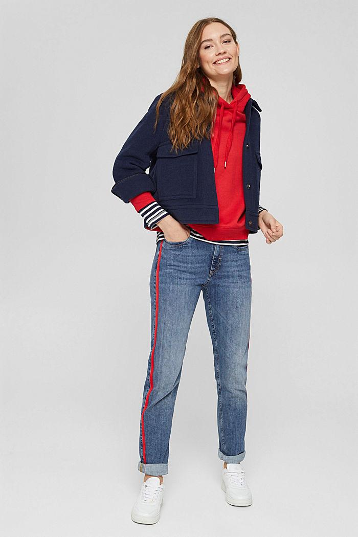 Stretch-Jeans mit Kontraststreifen, BLUE MEDIUM WASHED, detail image number 6