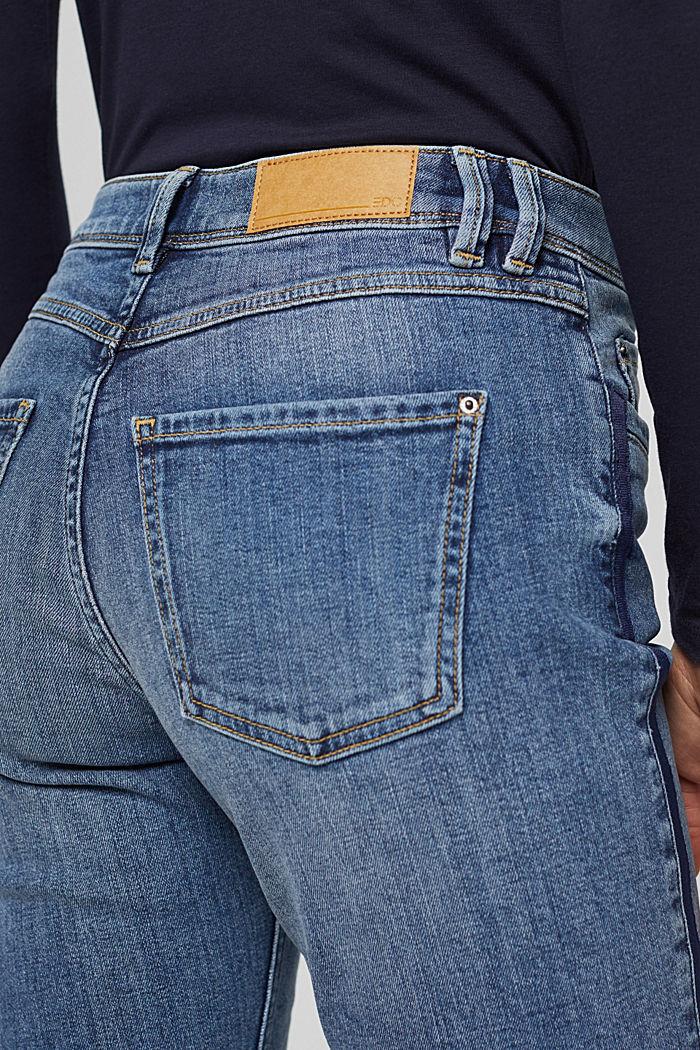 Jean stretch orné de bandes tissées, BLUE MEDIUM WASHED, detail image number 2