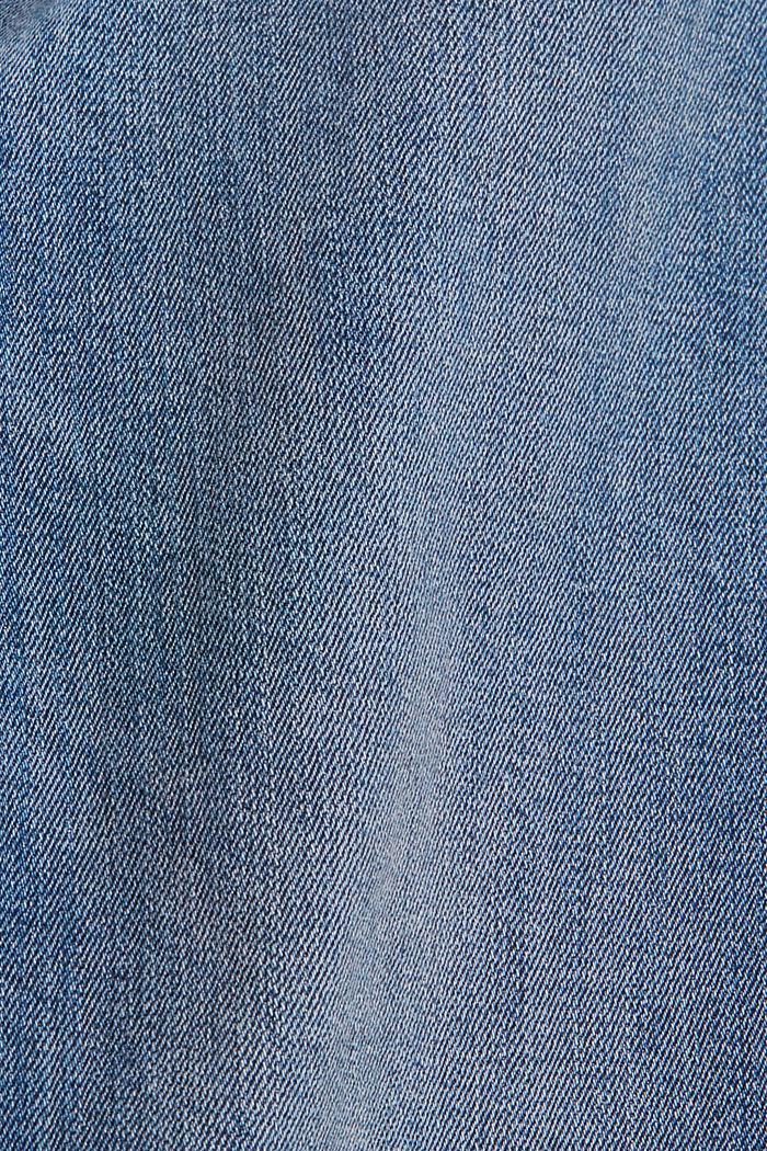 Jean stretch orné de bandes tissées, BLUE MEDIUM WASHED, detail image number 4