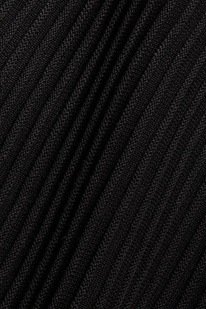 En matière recyclée: la jupe maxi longueur à la texture côtelée, BLACK, detail image number 4