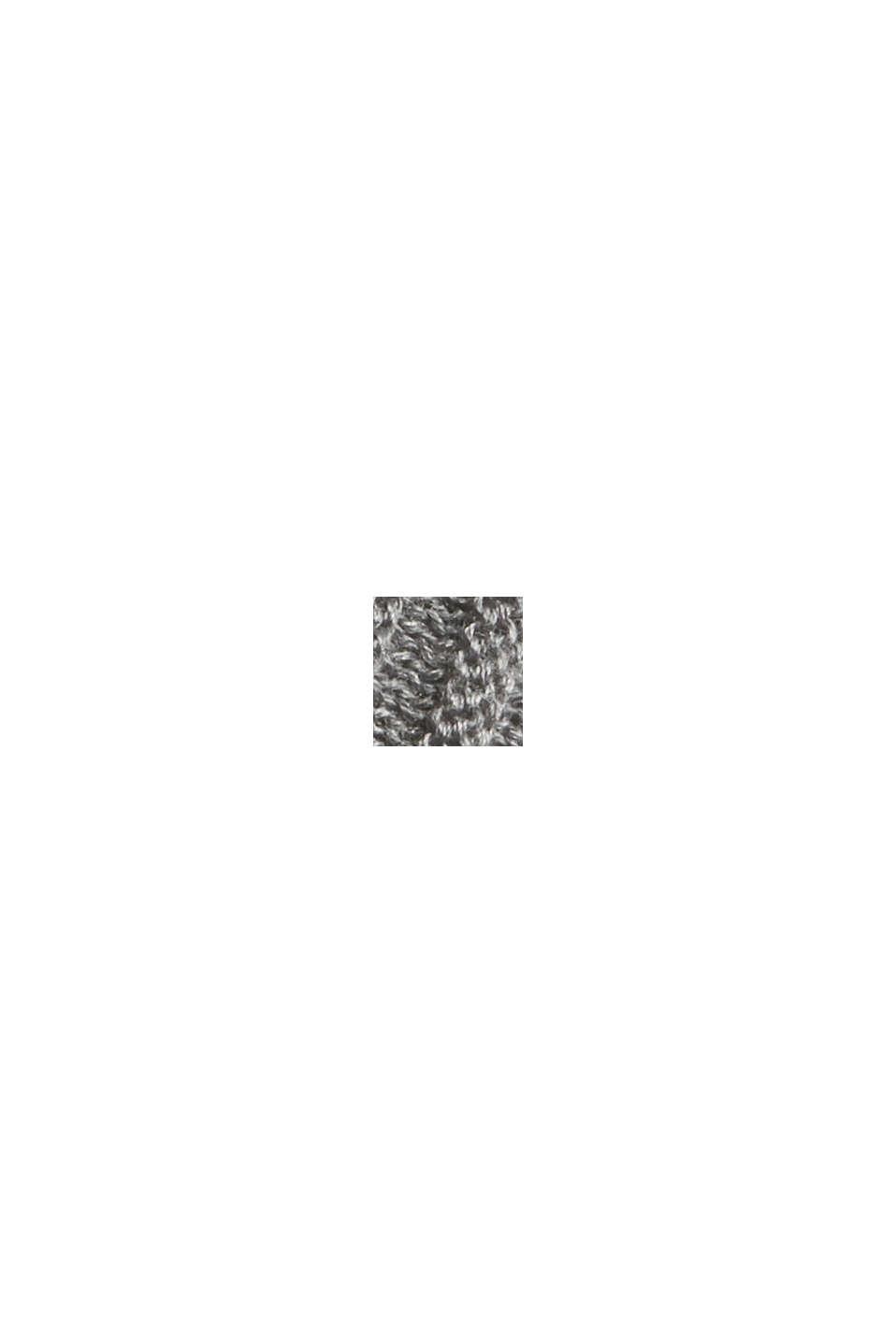 En matière recyclée: la jupe maxi longueur à la texture côtelée, GUNMETAL, swatch
