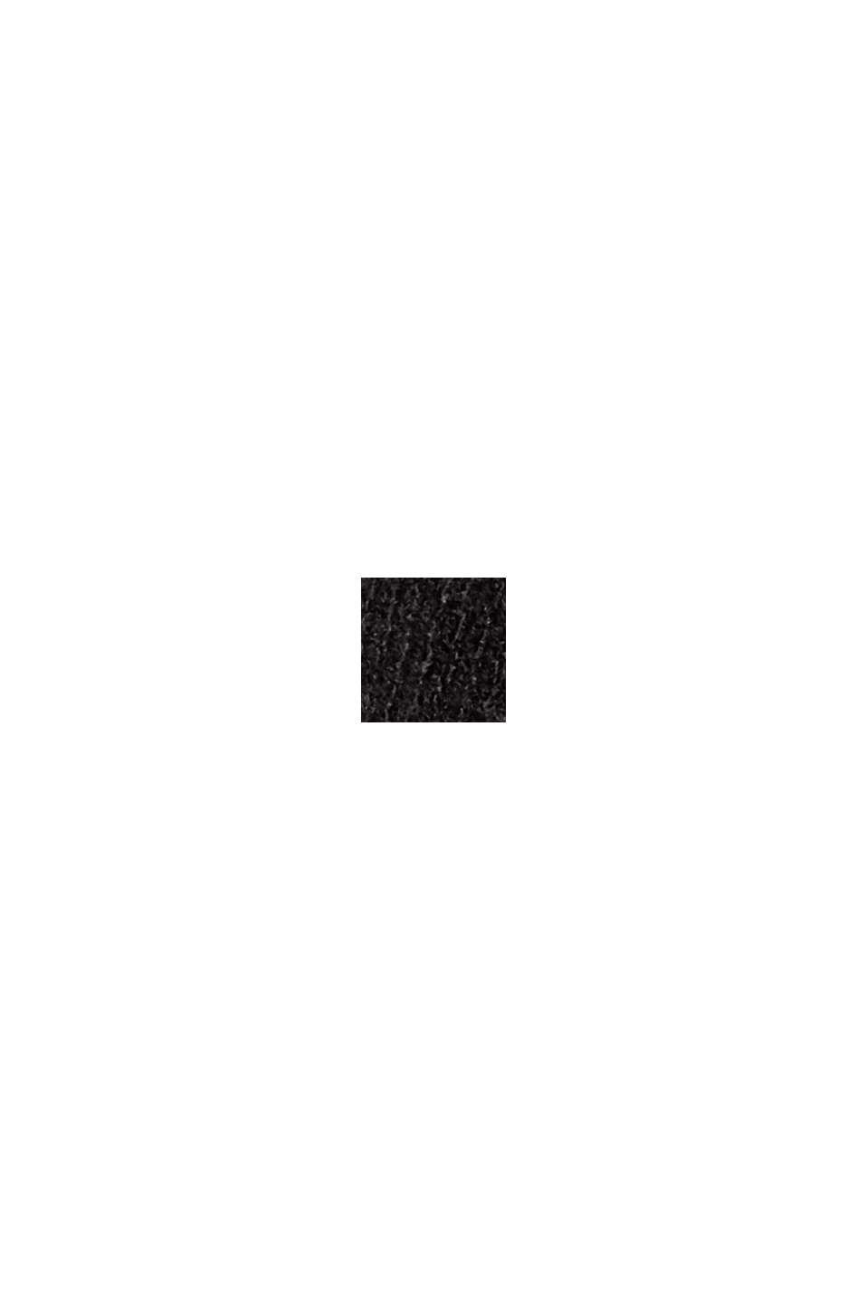 Coupe crayon en maille à texture sur les côtés, BLACK, swatch