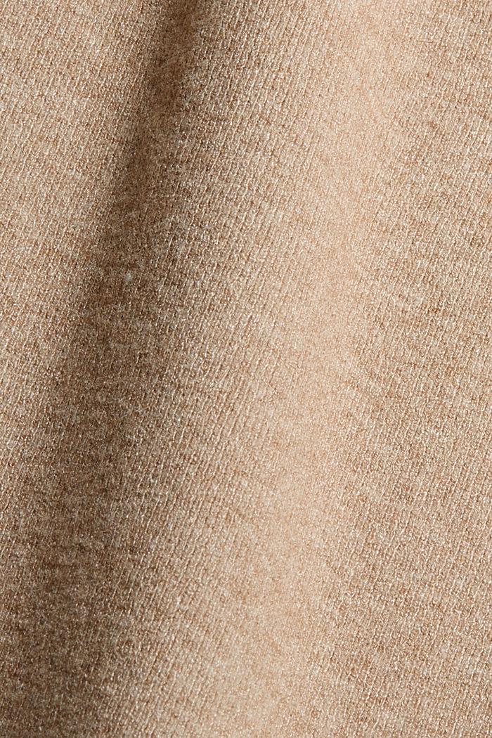 Gebreide kokerrok met gestructureerde zijkanten, CAMEL, detail image number 4