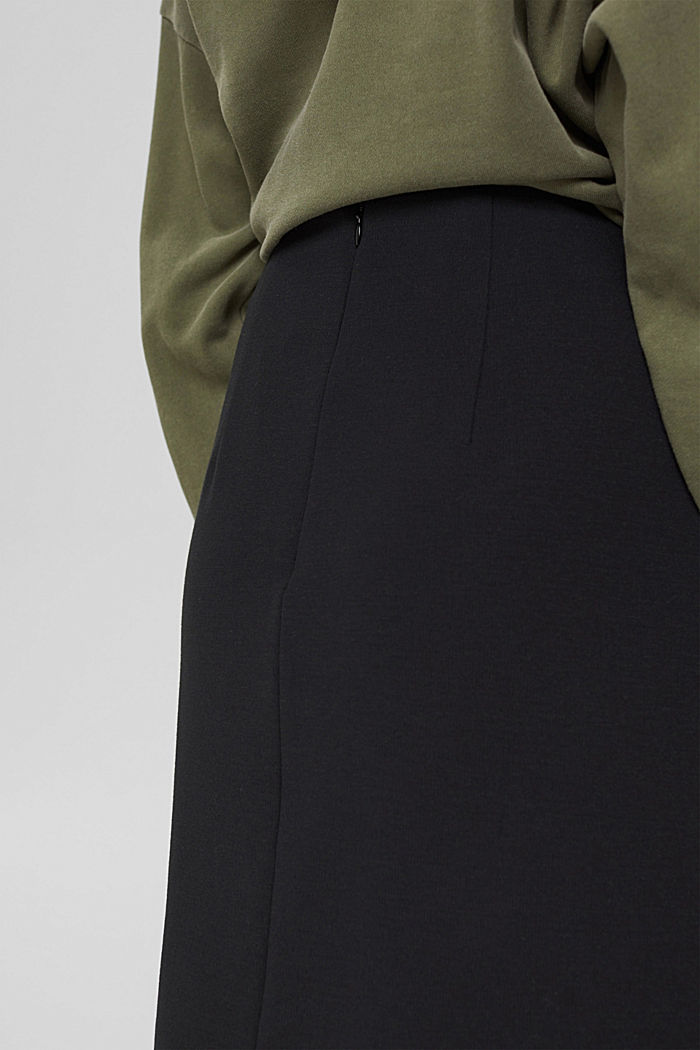 Recycled: mini skirt made of punto jersey, BLACK, detail image number 2