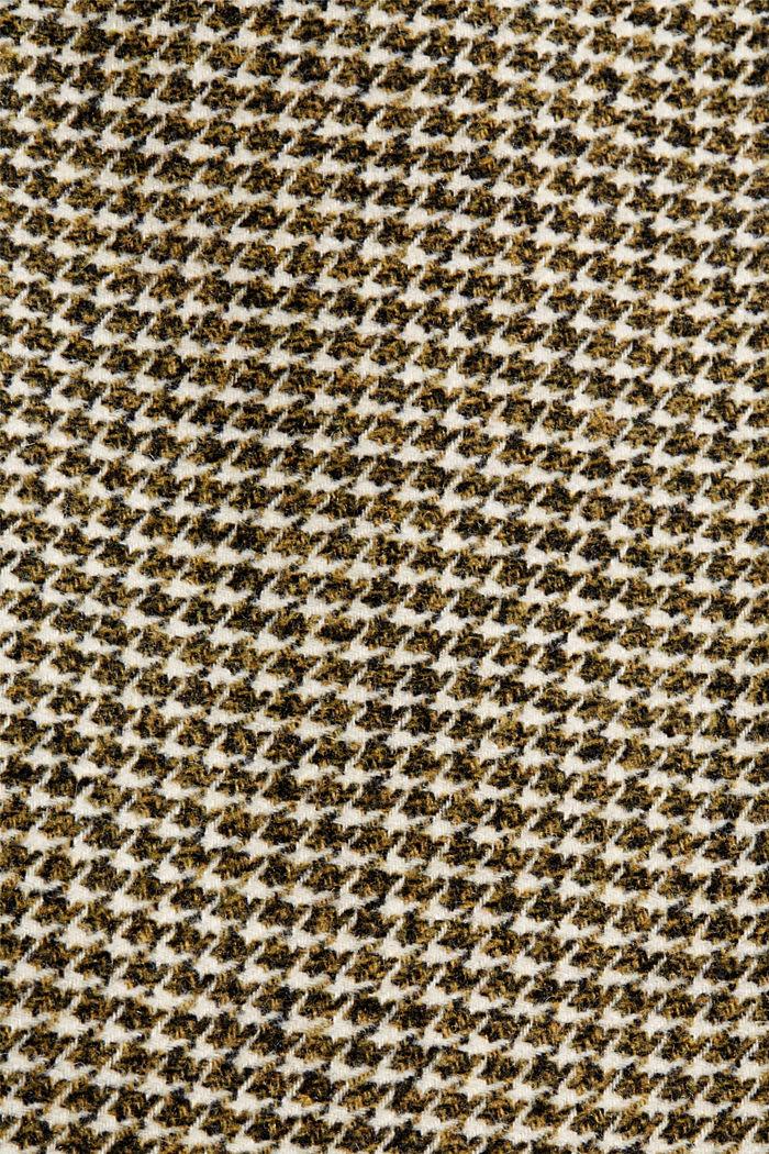 Met wol: rok met pied-de-poule, DARK KHAKI, detail image number 4