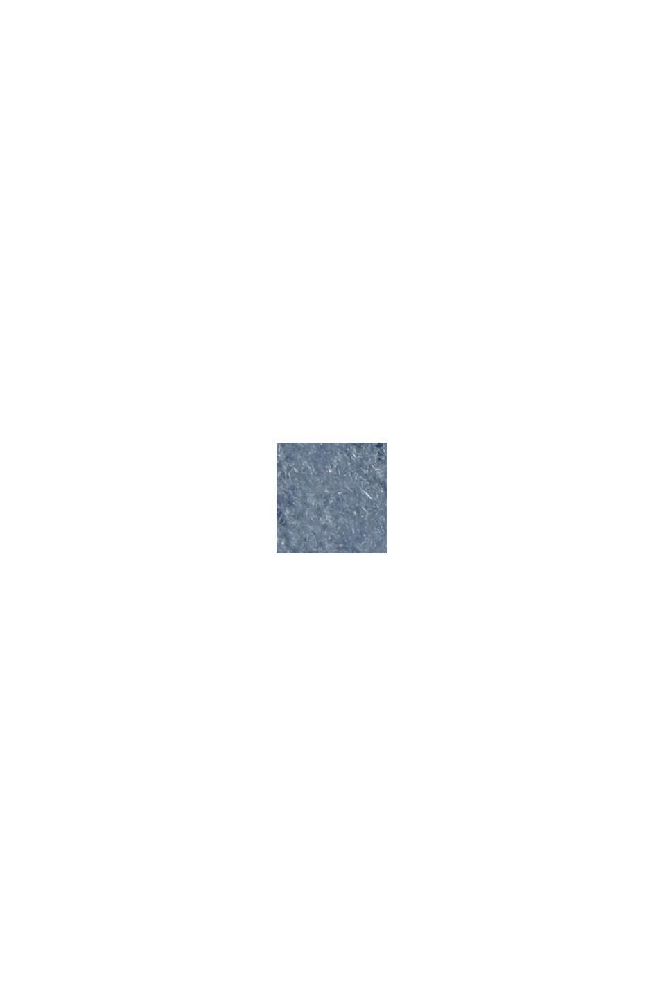 Con lana: vestido de punto con diseño de corte en O, GREY BLUE, swatch