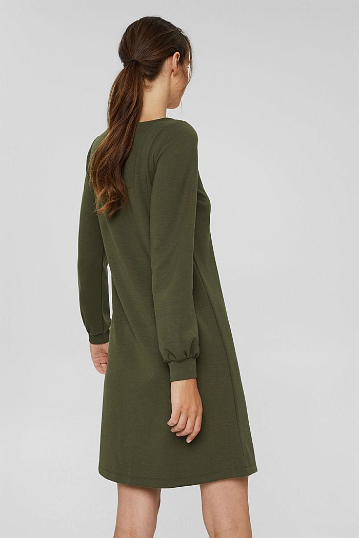 Recycled: sweatshirt dress in blended fabric, DARK KHAKI, detail image number 2