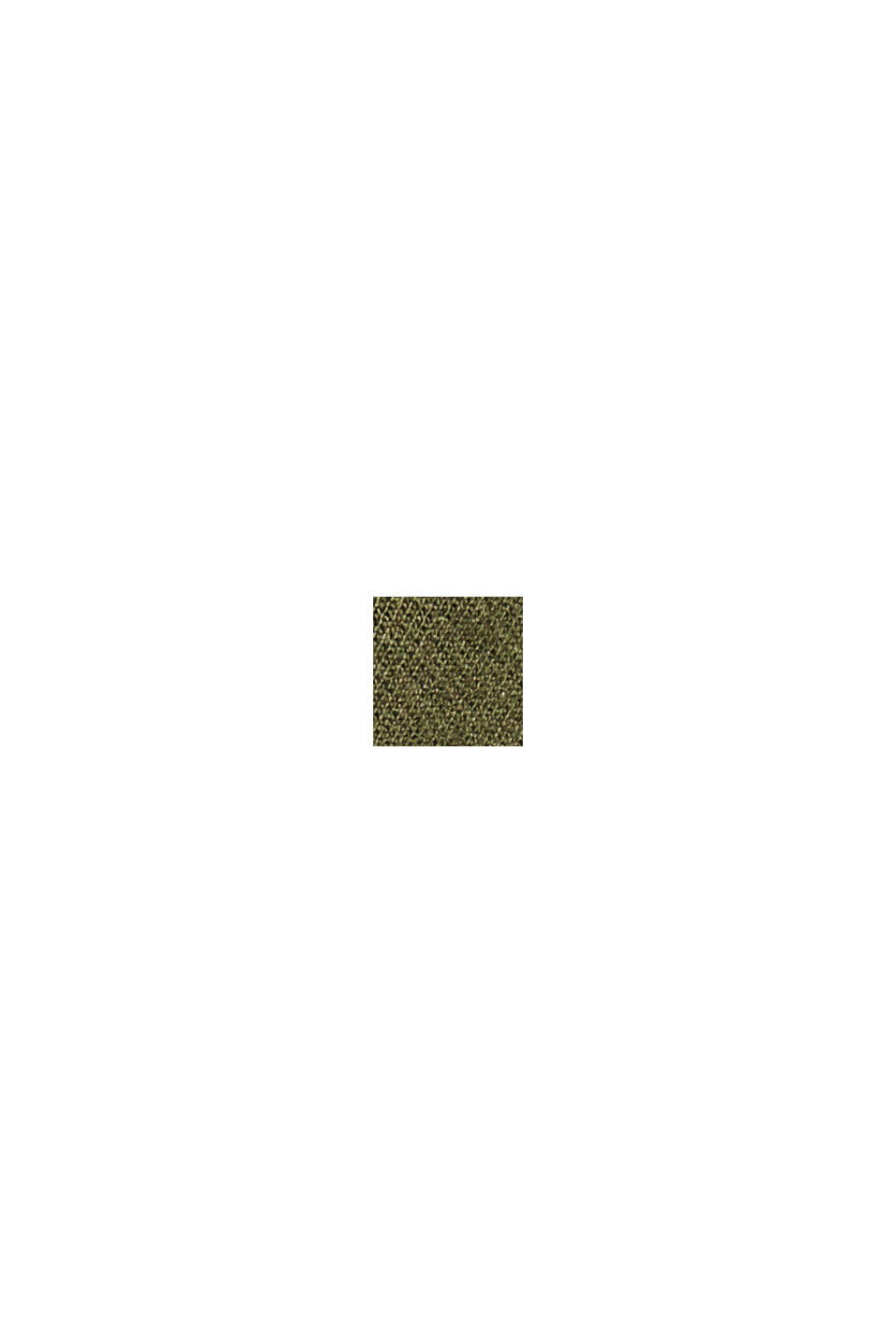 Recycelt: Sweatkleid aus Material-Mix, DARK KHAKI, swatch