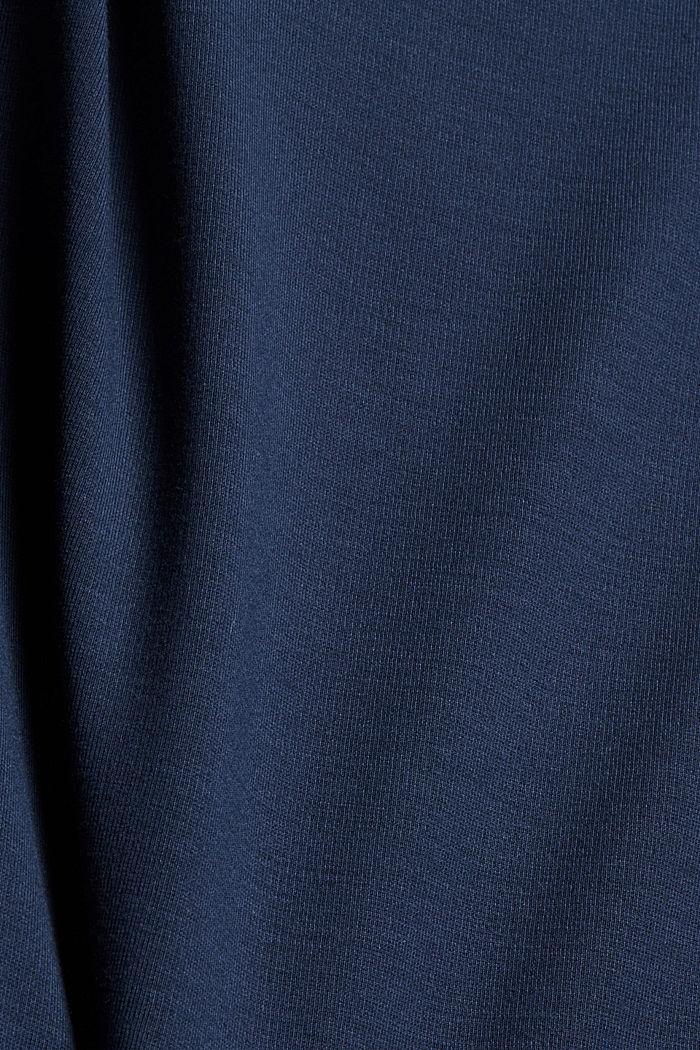 En matière recyclée: la robe molletonnée en mélange de matières, NAVY, detail image number 4