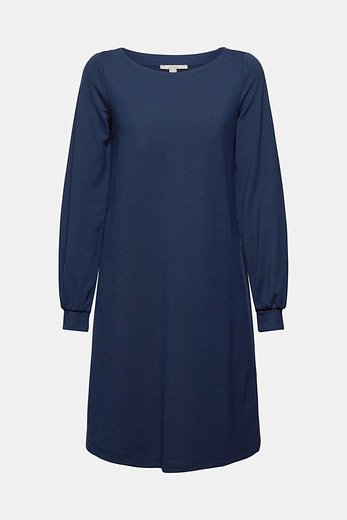 En matière recyclée: la robe molletonnée en mélange de matières, NAVY, detail image number 6