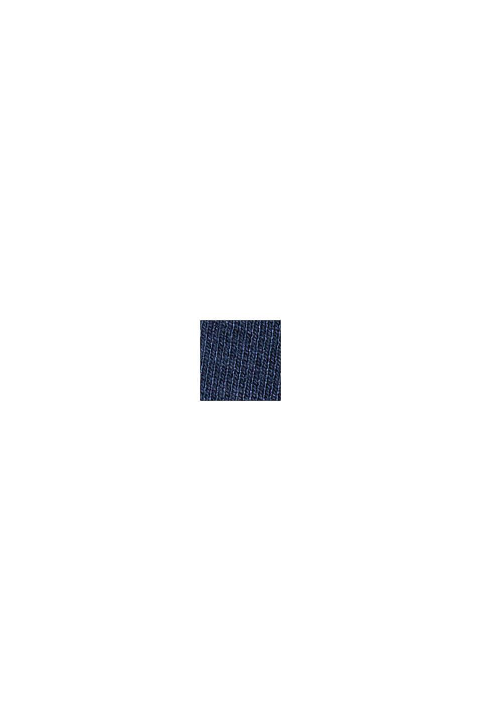 Recycelt: Sweatkleid aus Material-Mix, NAVY, swatch