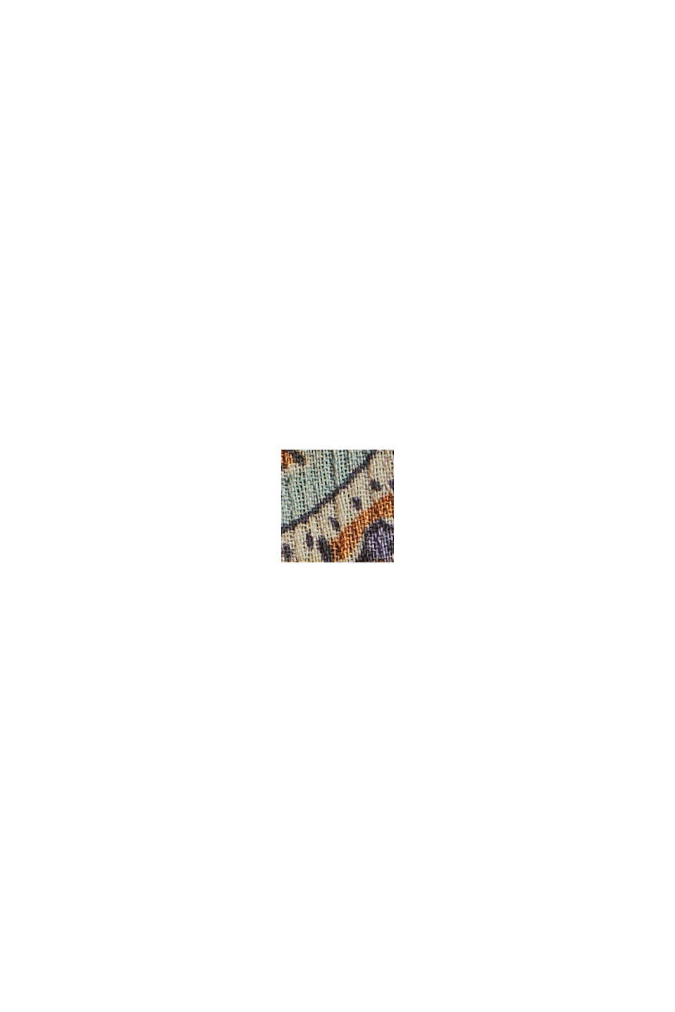 Recycelt: Chiffonkleid mit Paisleyprint, NAVY, swatch