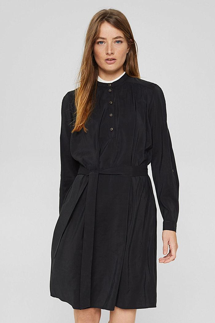 Blusenkleid mit LENZING™ ECOVERO™, BLACK, detail image number 0