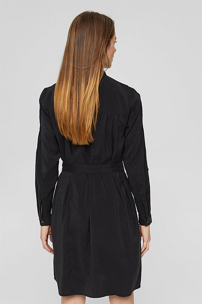 Blusenkleid mit LENZING™ ECOVERO™, BLACK, detail image number 2