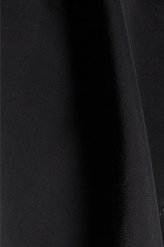 Blusenkleid mit LENZING™ ECOVERO™, BLACK, detail image number 4