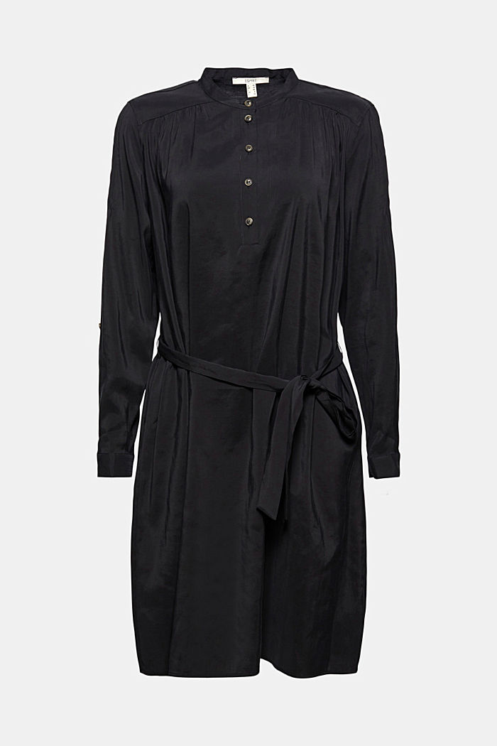 Blusenkleid mit LENZING™ ECOVERO™, BLACK, detail image number 5