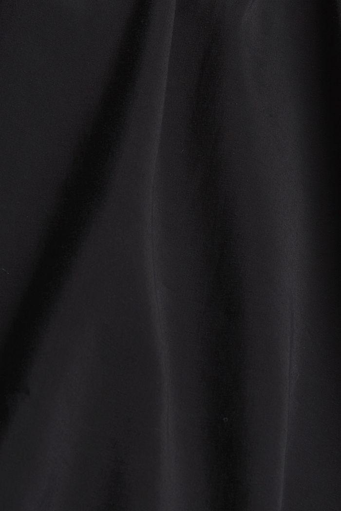 Hemdblusenkleid mit LENZING™ ECOVERO™, BLACK, detail image number 4