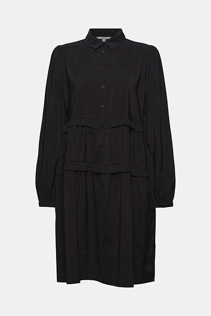 Hemdblusenkleid mit LENZING™ ECOVERO™, BLACK, detail image number 6