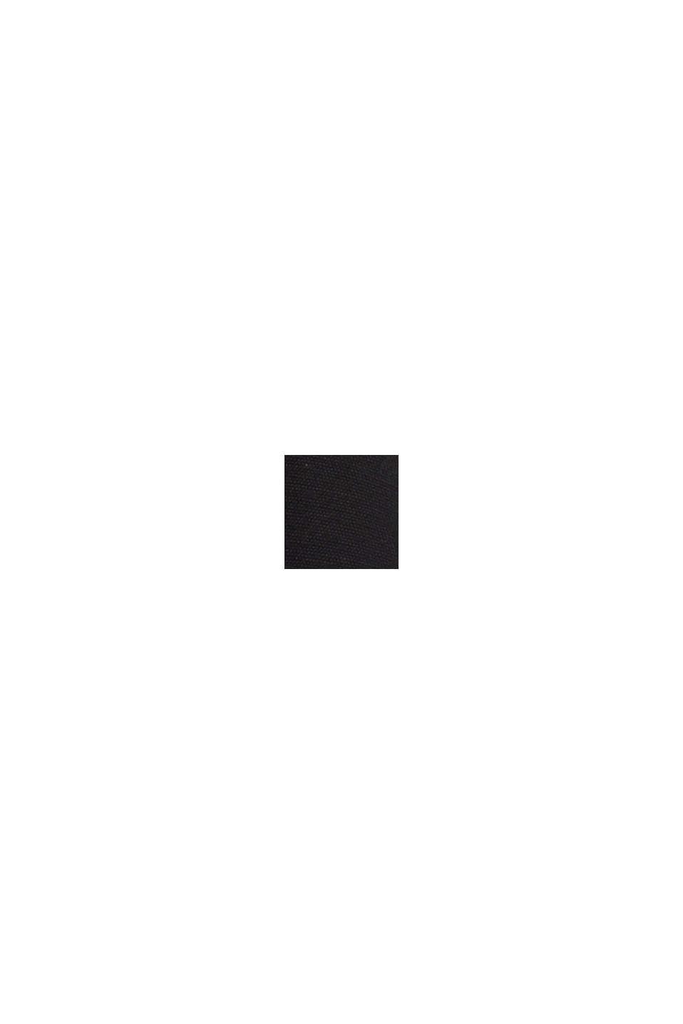 Skjortekjole med LENZING™ ECOVERO™, BLACK, swatch