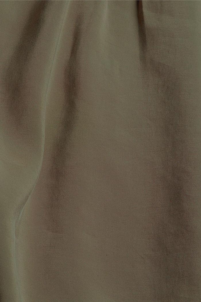 Hemdblusenkleid mit LENZING™ ECOVERO™, DARK KHAKI, detail image number 4