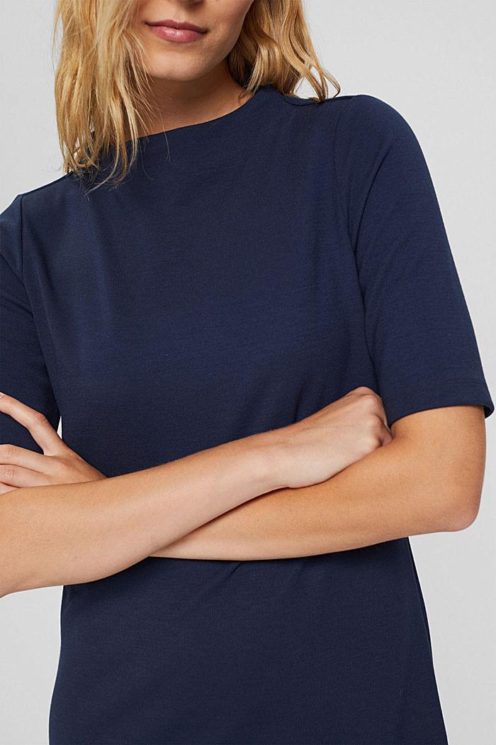 Recycelt: Minikleid aus Punto-Jersey, NAVY, detail image number 3