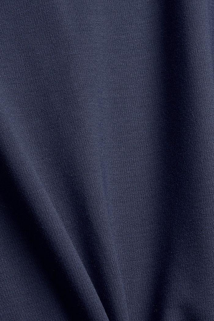 Recycelt: Minikleid aus Punto-Jersey, NAVY, detail image number 4