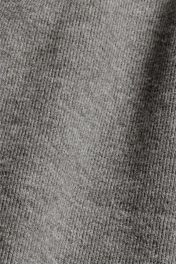 Knitted dress in blended organic cotton, GUNMETAL, detail image number 4