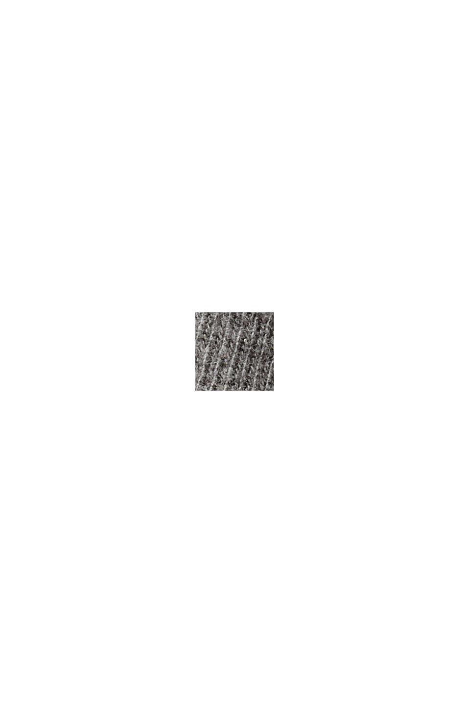 Strickkleid aus Bio-Baumwoll-Mix, GUNMETAL, swatch