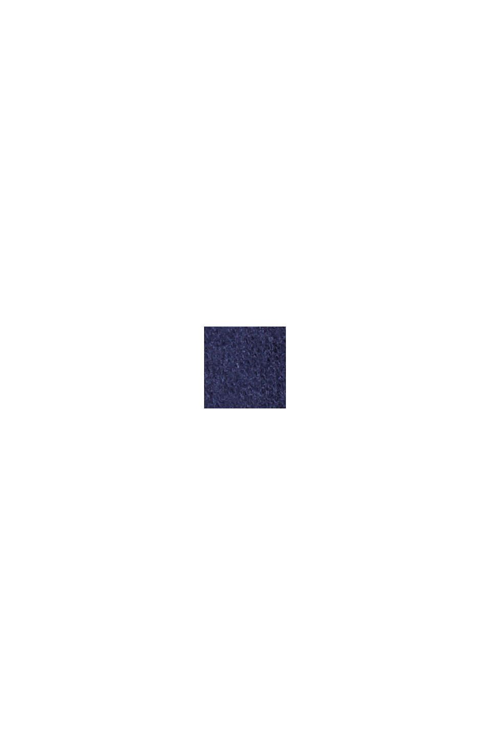 Strickkleid aus Bio-Baumwoll-Mix, NAVY, swatch