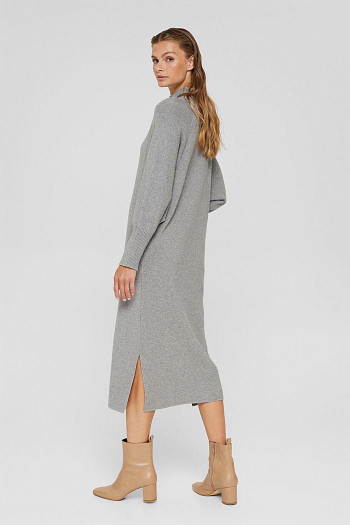 Knit dress with LENZING™ ECOVERO™, MEDIUM GREY, detail image number 2