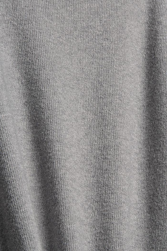 Knit dress with LENZING™ ECOVERO™, MEDIUM GREY, detail image number 4