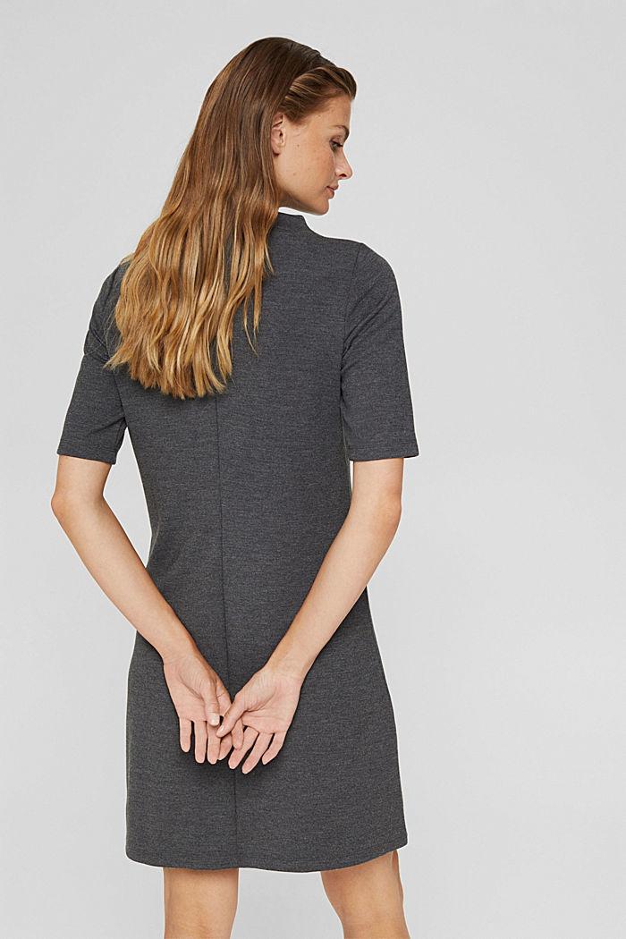 Gerecycled: jurk van jersey, GUNMETAL, detail image number 2