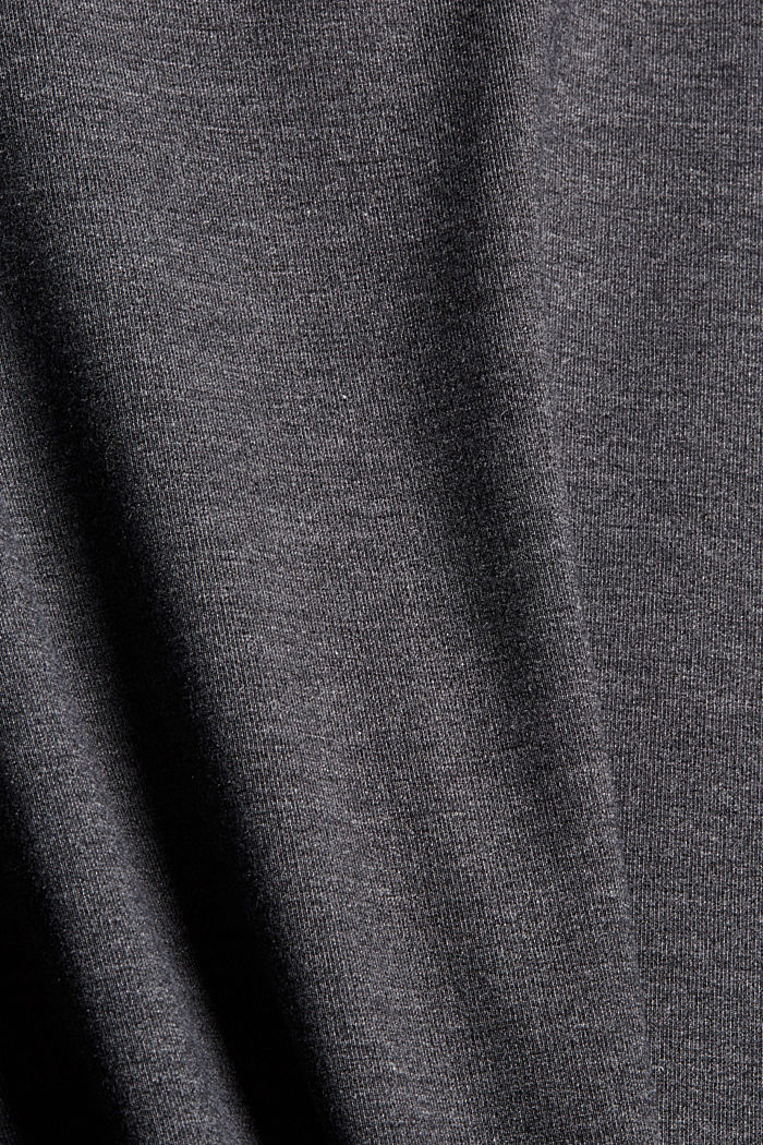 Gerecycled: jurk van jersey, GUNMETAL, detail image number 4
