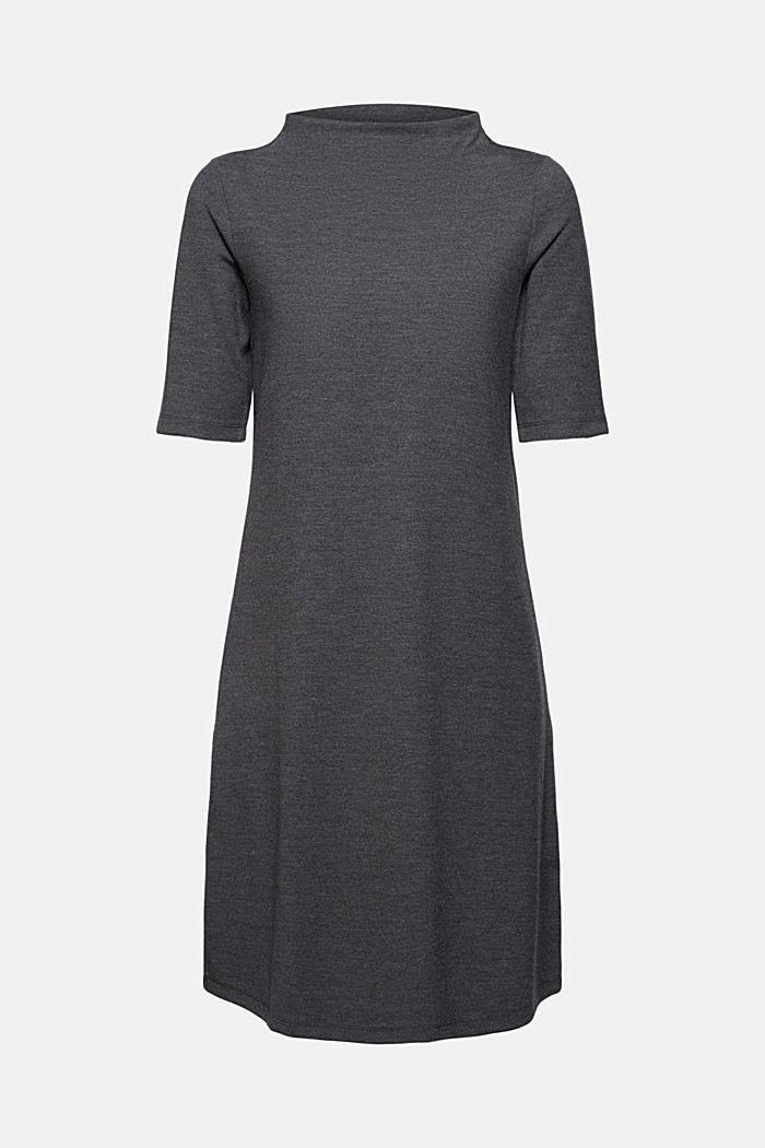 Recycelt: Kleid aus Punto-Jersey