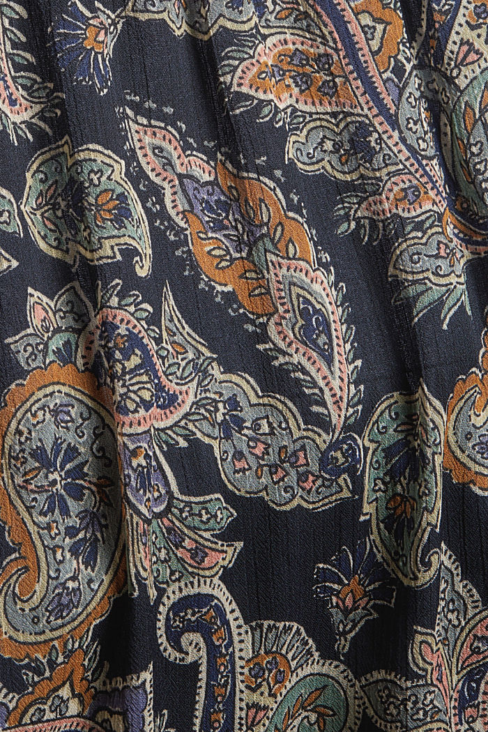 CURVY Recycelt: Chiffonkleid mit Paisleyprint, NAVY, detail image number 4