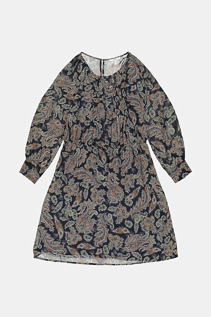 CURVY Recycelt: Chiffonkleid mit Paisleyprint
