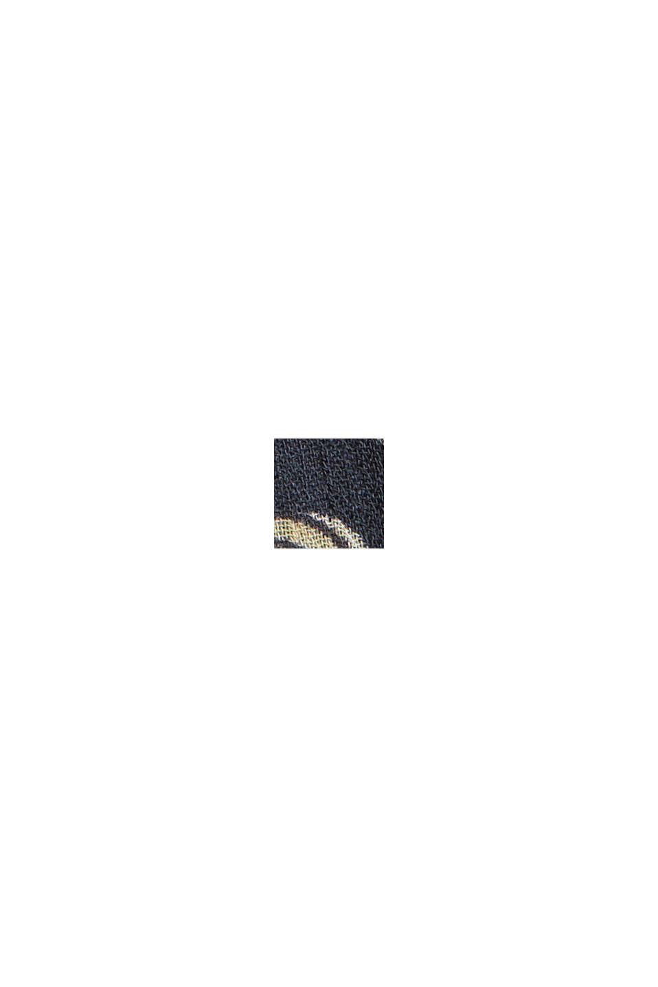 CURVY Recycelt: Chiffonkleid mit Paisleyprint, NAVY, swatch