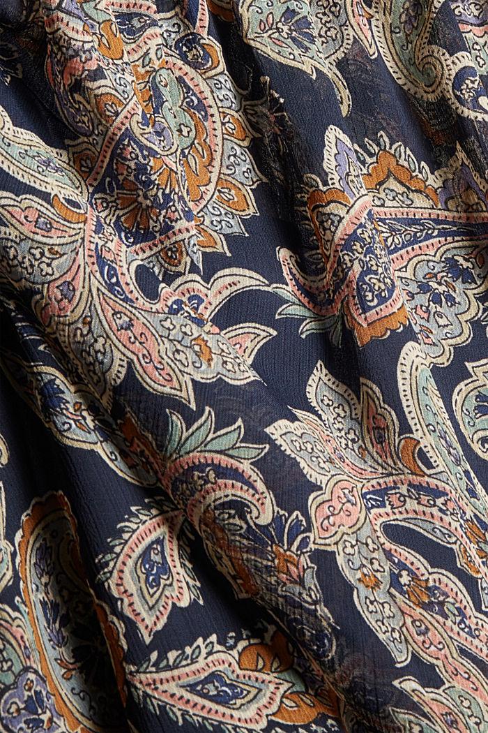 Recycelt: Chiffon-Bluse mit Paisley-Print, NAVY, detail image number 4