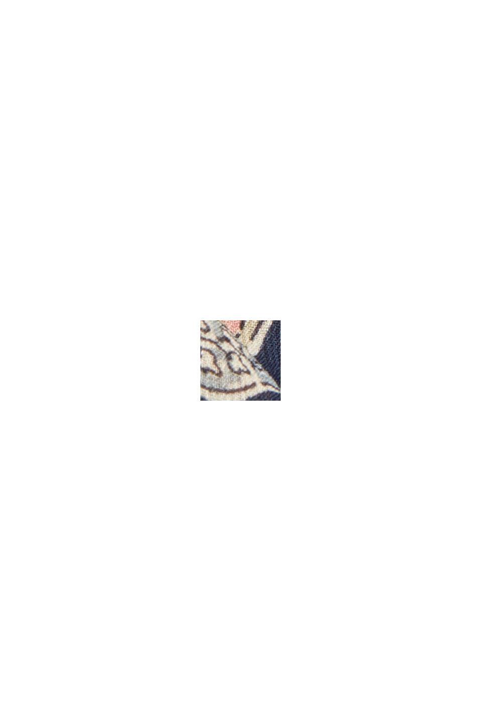 Recycelt: Chiffon-Bluse mit Paisley-Print, NAVY, swatch
