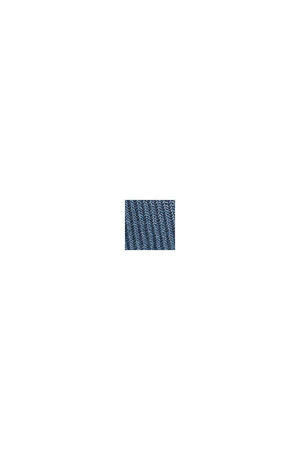 Tuniekblouse met biezen, GREY BLUE, swatch