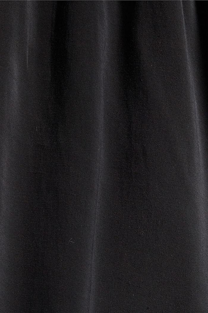 Shiny Henley-Bluse mit LENZING™ ECOVERO™, BLACK, detail image number 4
